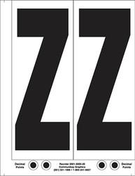 """9"""" Letter Z - 2/sht"""