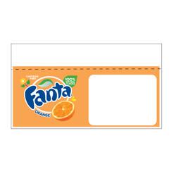 """Shelf talker - 10"""" x 6.25"""" Fanta"""