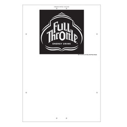 "Exterior Pole Sign - 32"" x 48"" Full Throttle"