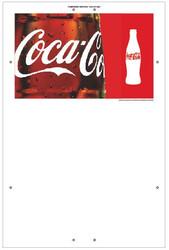 "Exterior Pole Sign - 32"" x 48"" Coke"