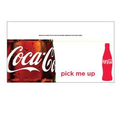 """Shelf talker - 10"""" x 6.25"""" Coke"""