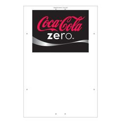 "Exterior Pole Sign - 32"" x 48"" Coke Zero"