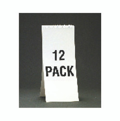 "11 1/8"" Spiral Beer Descriptive Pad - White"