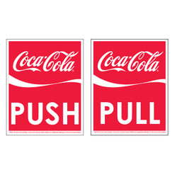 Coke Push Pull Decals