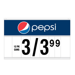 "21"" Spiral Display Sign - Pepsi"
