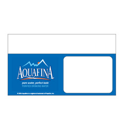 "Shelf talker - 10"" x 6.25"" Aquafina"