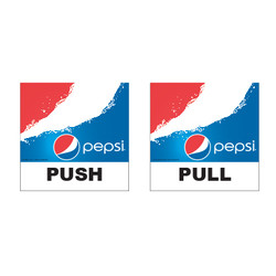 Pepsi Push Pull Decals