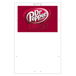"Exterior Pole Sign - 32"" x 48"" Dr Pepper"