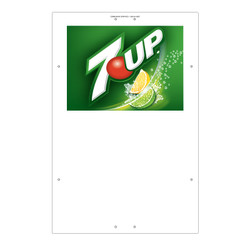 "Exterior Pole Sign - 32"" x 48"" 7UP"