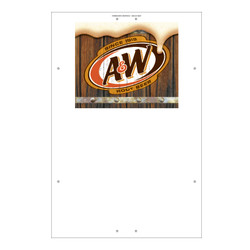 "Exterior Pole Sign - 32"" x 48"" A&W"