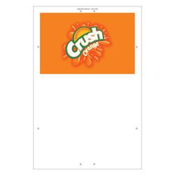 """Exterior Pole Sign - 32"""" x 48"""" Orange Crush"""
