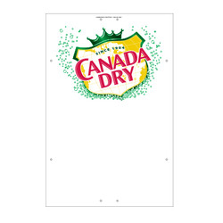 "Exterior Pole Sign - 32"" x 48"" Canada Dry"