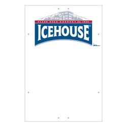 "Exterior Pole Sign - 32"" x 48"" Icehouse"