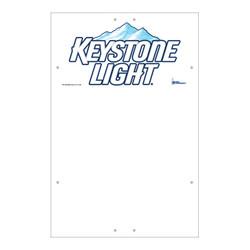 "Exterior Pole Sign - 32"" x 48"" Keystone Light"