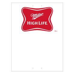 "Mini Pole Sign - 24"" x 32"" Miller High Life"