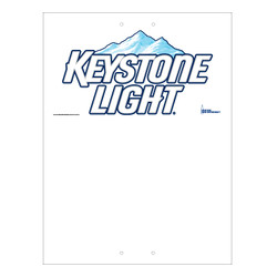 """Mini Pole Sign - 24"""" x 32"""" Keystone Light"""