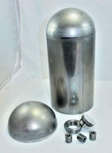"6"" dia DIY weld together make your own oil tank for your chopper"