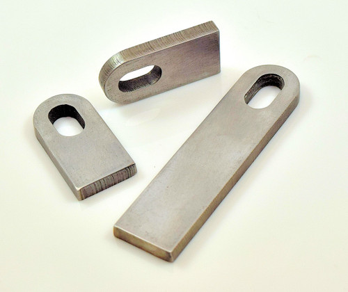 """steel weld on slotted 1/4"""" thick tab universal 3/8 hole"""