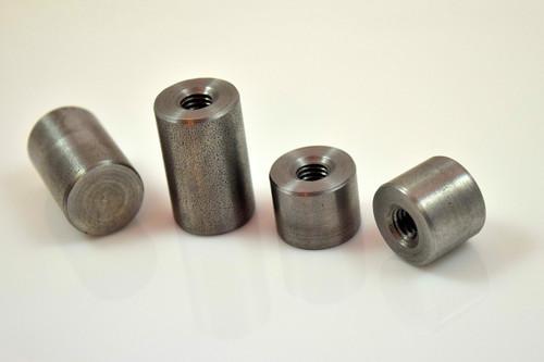 m8 x 1.25 metric mild steel weld on threaded mounting bung