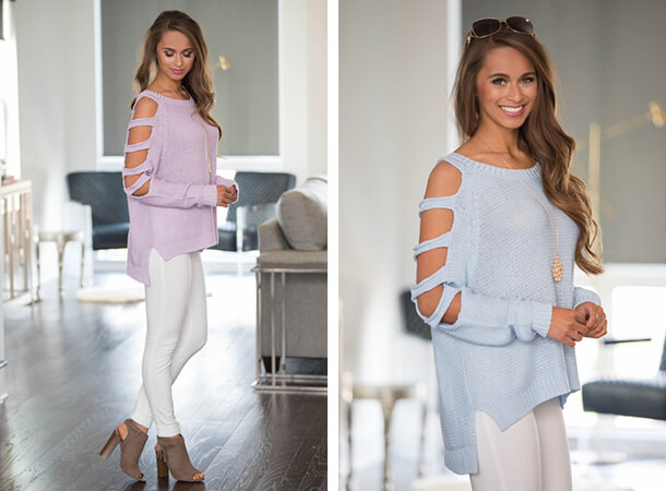 Cute Cold Shoulder Tops - Open Arms