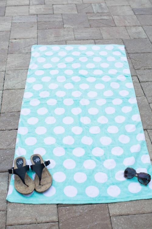 Polka dot beach towel