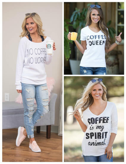 Coffee Fanatics Graphic Tees