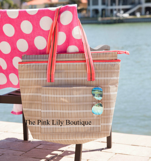 Straw summer tote