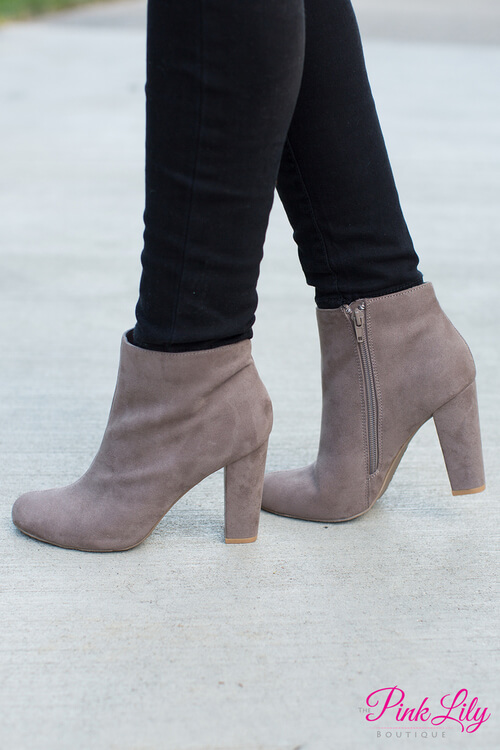The Mallory Booties Taupe