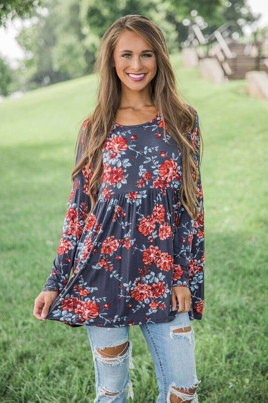 My Moment To Shine Floral Tunic