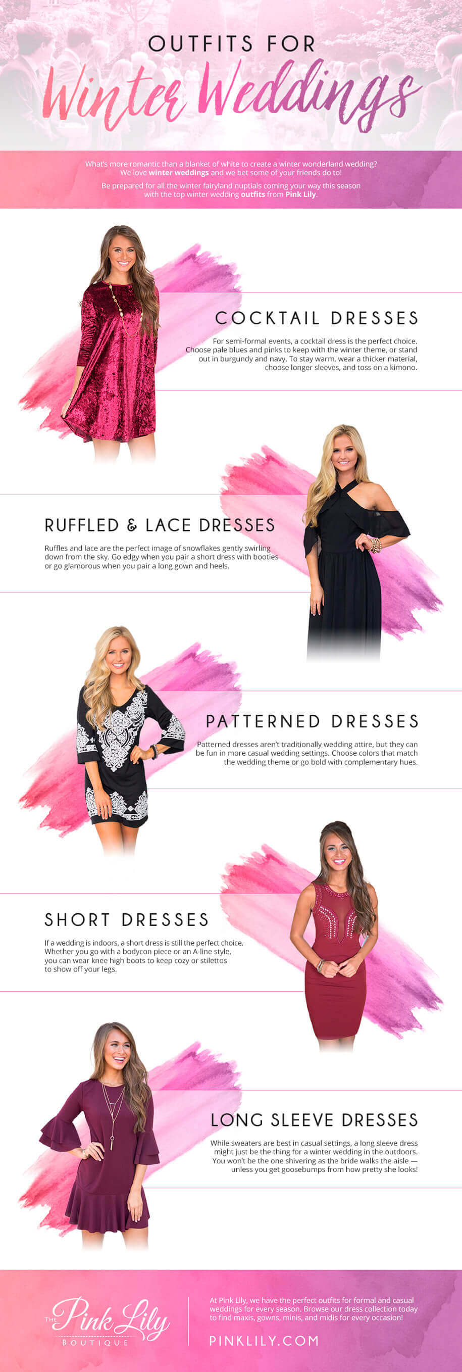 Winter Wedding Outfits Infographic
