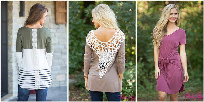 Lace detail tops
