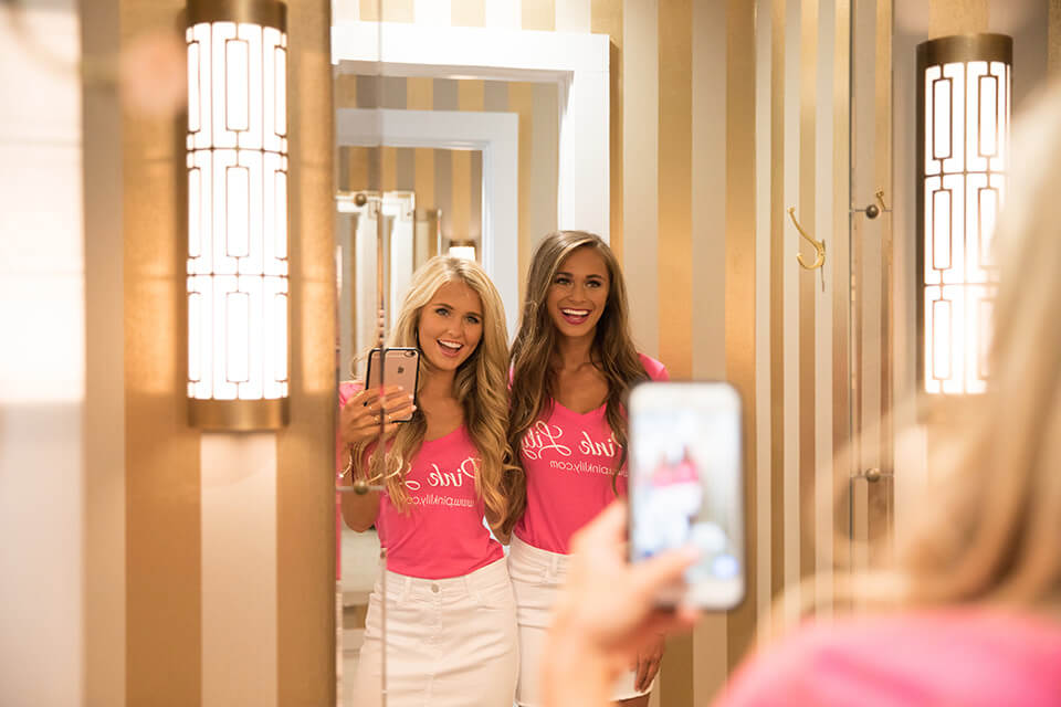 Pink Lily dressing rooms