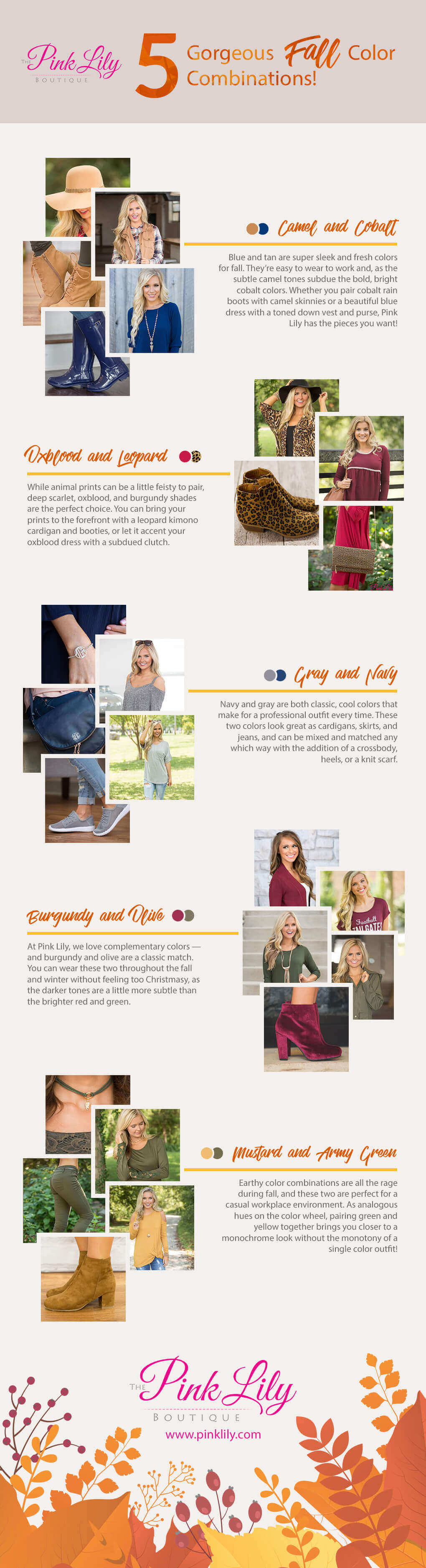 5 Gorgeous Fall Color Combinations! (Infographic)