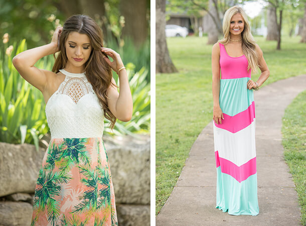 Summer Dresses - Color Blocking