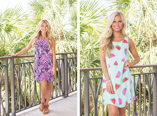 Summer Dresses - Shift Dresses