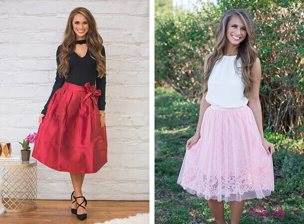 Thanksgiving Fashion - Midi Skirts