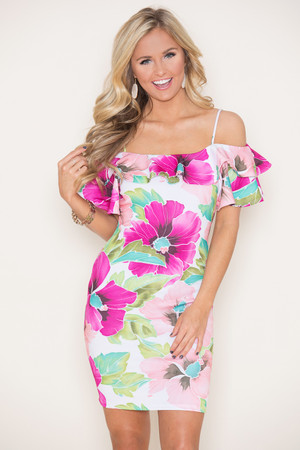 She Radiates Love Floral Dress  CLEARANCE