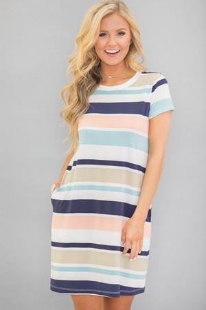 We've Come So Far Striped Dress
