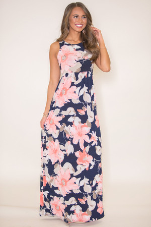 Thinking Of My Love Floral Maxi Dress Pink