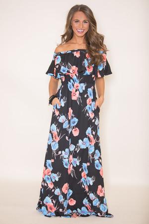 Paradise Is Calling Me Floral Maxi Dress