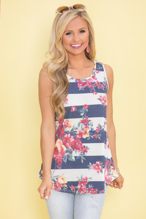 Carried Away With Love Floral Tank