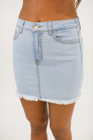 All Roads Lead To You Denim Skirt
