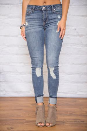 The Daisy Medium Wash Distressed Jeans