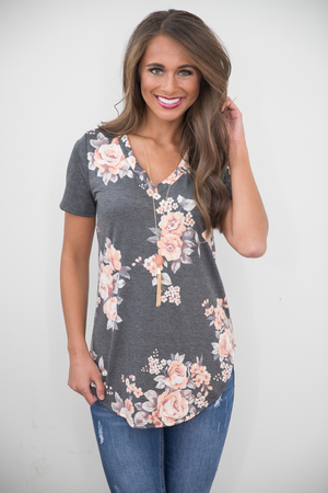 Do You Love Me Floral Blouse