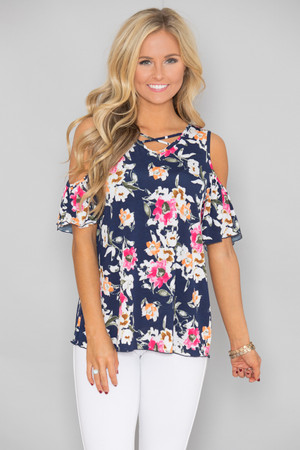 At Last My Love Floral Blouse