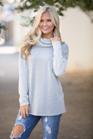 Let's Wind Down Sweater Grey CLEARANCE