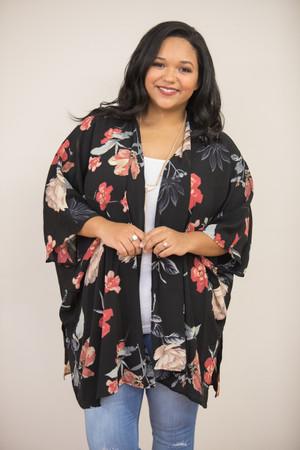 When I First Saw You Floral Kimono