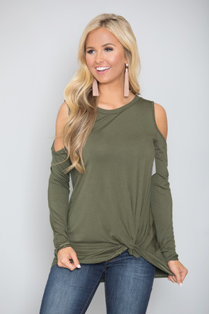 Where To Go From Here Blouse Olive