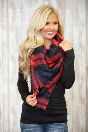 Our Little Secret Plaid Blanket Scarf SALE