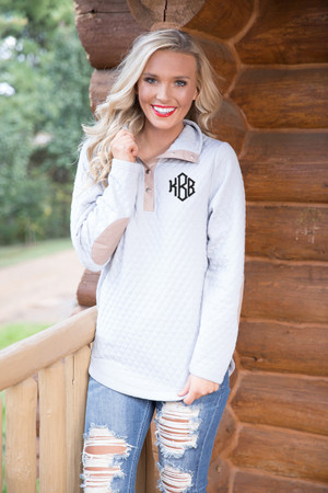 Bring On Fall Pullover Light Grey CLEARANCE